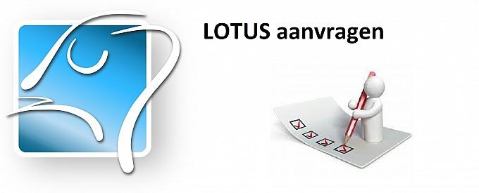 Lotus aanvragen